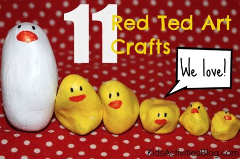 kids craft ideas  red ted art