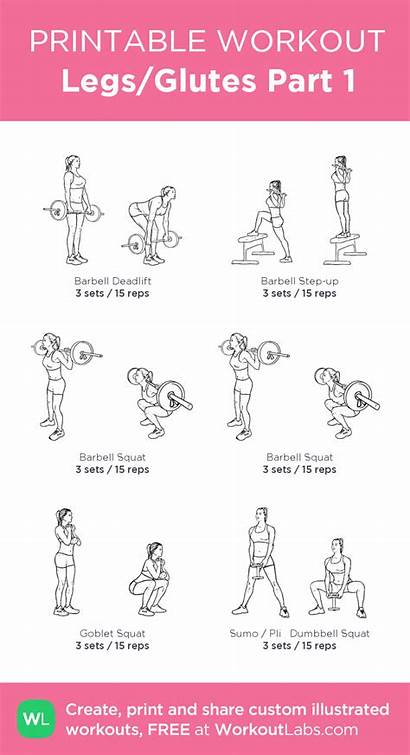 Workout Leg Glutes Workoutlabs Legs Workouts Glute