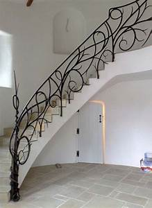 Staircase, Along, The, Corner, Walls, Made, With, Concrete, And, Iron