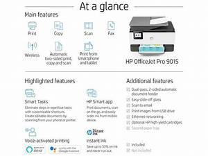 Hp Officejet Pro 9015 Inkjet Printer - Newegg Com