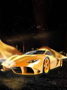 Light Font Free Ferrari Sports Car Poster Background Car Poster Gold