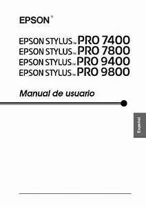 Epson Styluspro7400 Printer Download Manual For Free Now