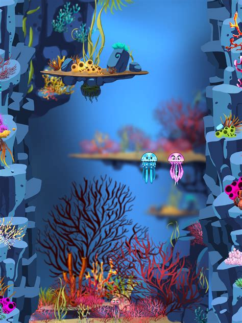 underwater game mockup underwater plants cartoon plants