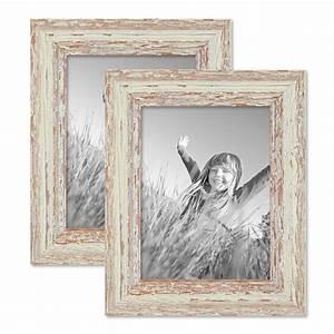 Bilderrahmen Vintage Set : 2er set vintage bilderrahmen 15x20 cm weiss shabby chic massivholz mit glasscheibe und zubeh r ~ Buech-reservation.com Haus und Dekorationen