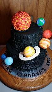 Copied for the sun and planets. Solar System Cake | Cake ...
