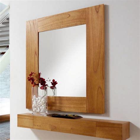 etagere cuisine design miroir salon en bois miroir mural marron clair