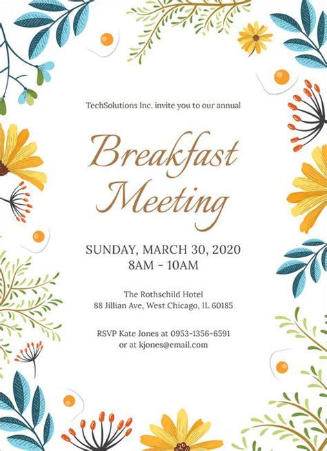 meeting invitation templates  sample