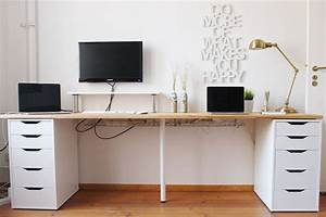 Mini Office Schreibtisch : office update diy desk mini office diy desk ikea office ja bedroom office ~ Orissabook.com Haus und Dekorationen