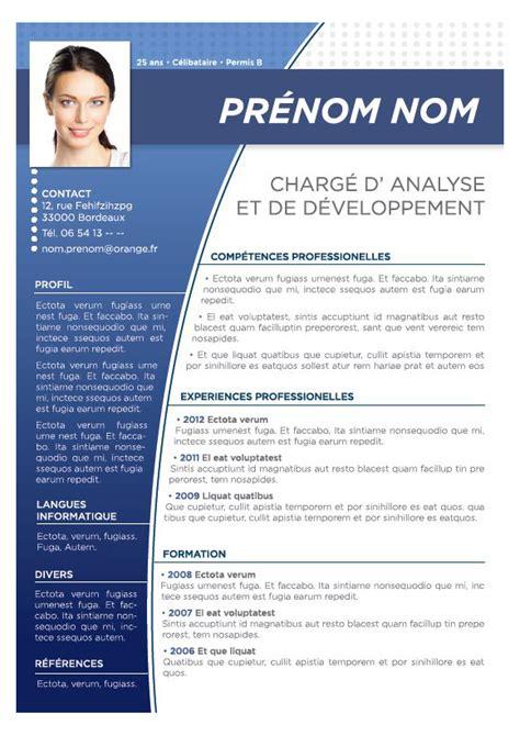 Modele De Cv by Modele Cv En Couleur Cv Anonyme