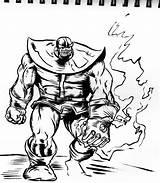 Thanos Coloring Infinity Gauntlet Colorir Caminhando Desenho War Imprimir Sketch Tudodesenhos Printable sketch template