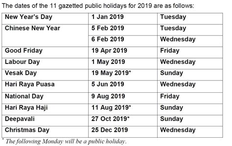 govsg singapore public holidays long weekends day weekend