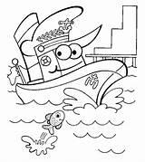Coloring Pages Boats Ships Transportation Boat Ship Printable Preschool Worksheet Ones Toddler sketch template