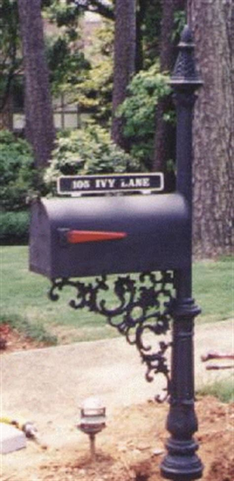 wrought iron mailbox post cast iron mailbox posts made by tuscumbia iron works 1666