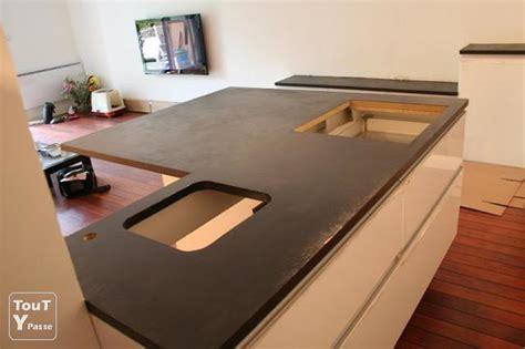 de cuisine plan de travail cuisine beton dootdadoo com idées de