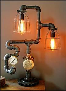 20 Interesting Industrial Pipe Lamp Design Ideas