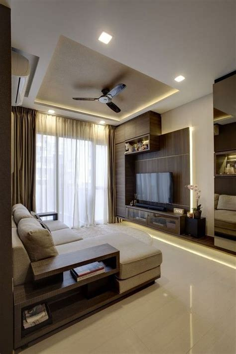 Modern Interior Design Ideas For Living Room by 70 Modern False Ceilings With Cove Lighting Design For