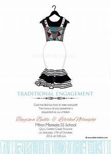 sithandiwe xhosa traditional wedding invitation xhosa With sotho traditional wedding invitations