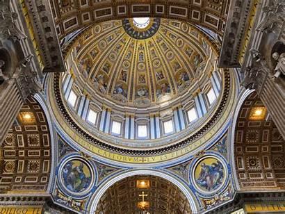 Dome Basilica Peter St Vatican Interior Architecture