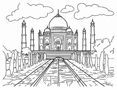 Famous Coloring Monuments Pages Children