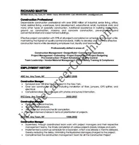 manager resume template 13 free word excel pdf format