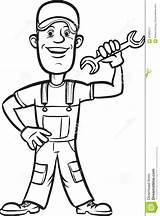 Wrench Plumber Drawing Colorir Cartoon Encanador Whiteboard Coloring Chave Desenho Animados Desenhos Dos sketch template