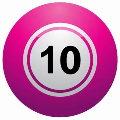 Number Clipart Balls Lotto Ten Clip Ball