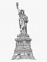Statue Liberty Coloring Clipartkey sketch template