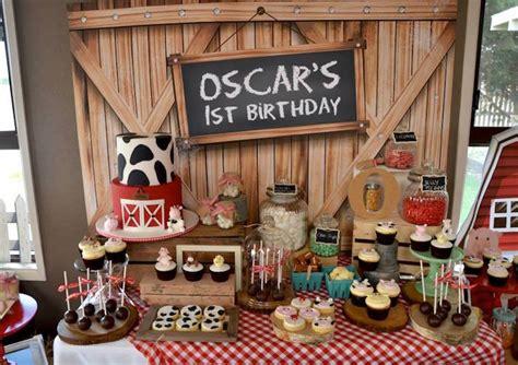 karas party ideas rustic barnyard st birthday party