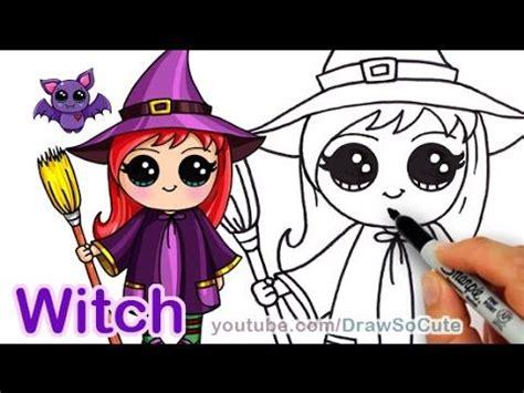 draw  cute witch step  step kids fun stuff