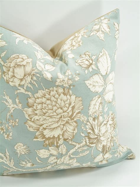 decorative floral pillow cover  hidden zipper