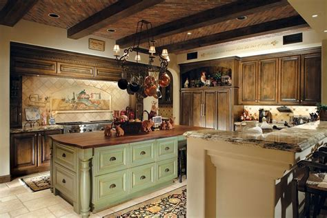 green kitchen island ideas 47 beautiful country kitchen designs pictures 4015