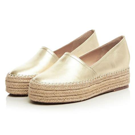 women flats genuine leather platform shoes woman slip