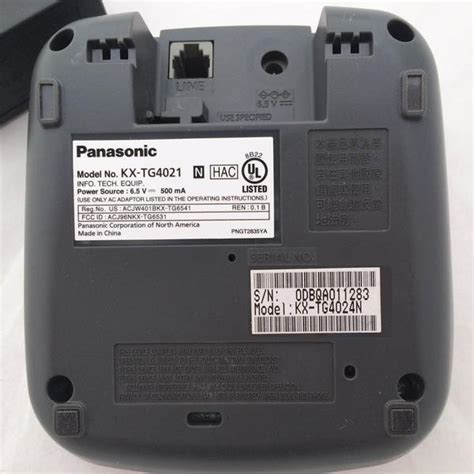 Panasonic KX TG4021 Cordless Phone MAIN BASE ONLY