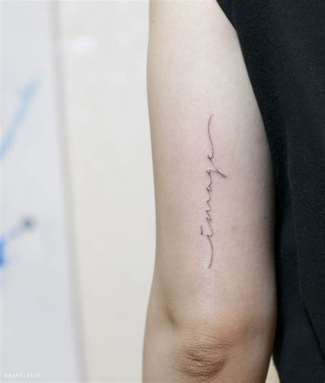 Was Bedeutet Filigran by 레터링 타투 By 타투이스트 리버 Lettering By Tattooist River