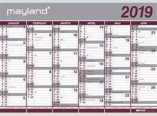 Kalender 2018 Dansk koledar print