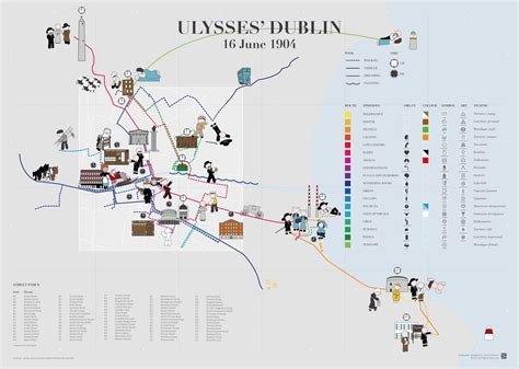An animated map of Ulysses' Dublin Information is