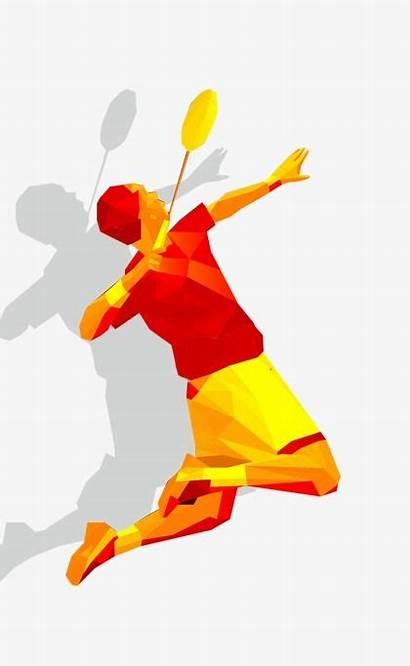 Badminton Cartoon Clipart Play Poster Creative Sports