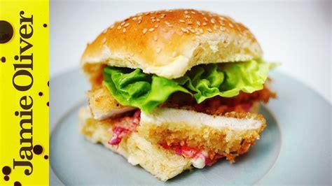 crunchy chicken schnitzel burger aaron craze youtube
