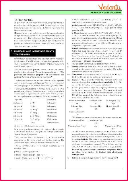 class  notes chemistry periodic table periodicity