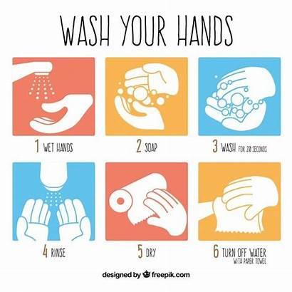 Wash Hands Steps Vector Premium Washing Hand