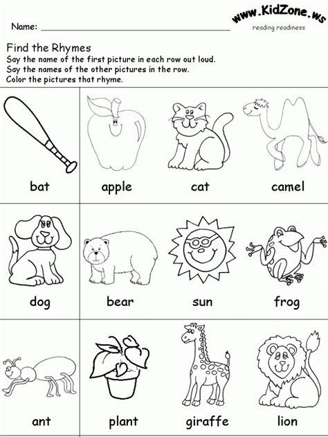 long  rhymes worksheets worksheets