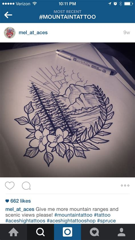 mountain tattoo ink ideas pinterest tatouage