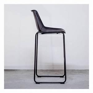 Chaise Industrielle Cuir : chaise de bar en cuir et m tal vintage style industriel de cuisine ~ Teatrodelosmanantiales.com Idées de Décoration