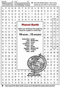 Planet Earth Word Search (page 2) - Pics about space