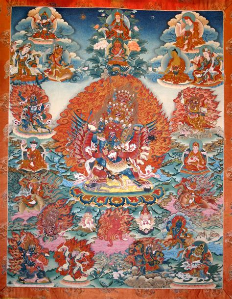 wh  heruka crop tibetan buddhist altar