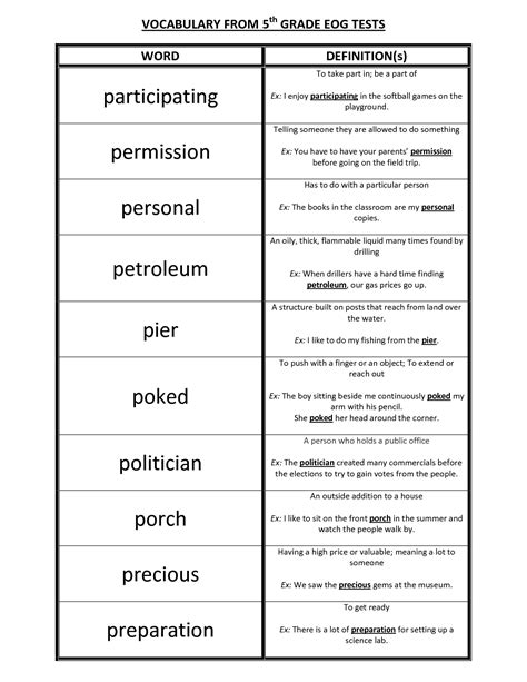 17 Best Images Of 5th Grade Vocabulary Worksheets  9th Grade Spelling Words Worksheets, 5th