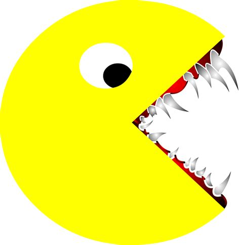 Pacman Images Scary Pacman Pac 183 Free Vector Graphic On Pixabay