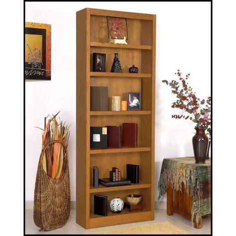 Single Shelf Bookshelf by Concepts In Wood Midas Single Wide 6 Shelf Bookcase In