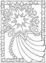 Coloring Stars Pages Banner sketch template