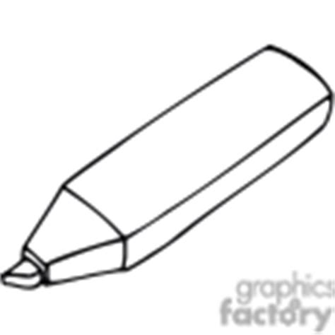 marker clipart black and white royalty free yellow highlighter marker 382660